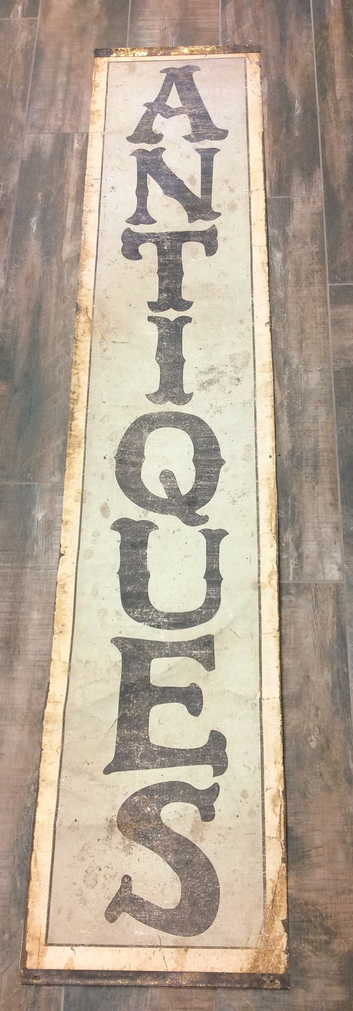 Paper Scroll Antique Sign