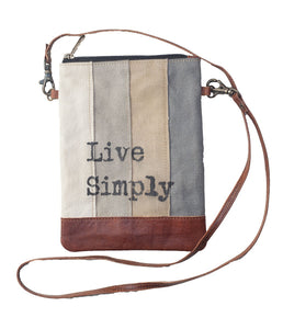 "Recycled 6x8"" Live Simply Cross Body"