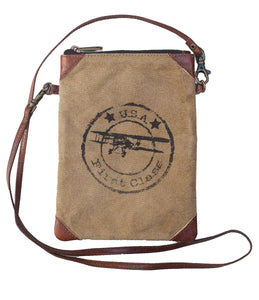 "Recycled 6x8"" USA First Class Cross Body"