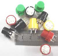 Push Button Switch: SPST, Green