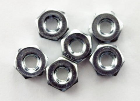 4-40 Machine Hex Nut (Pack of 6)