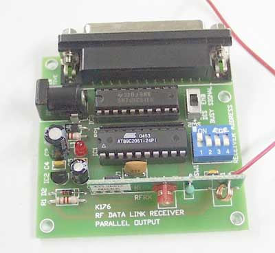 RF Data Link Receiver, Parallel Output