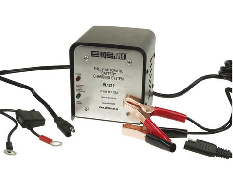 FULLY AUTOMATIC CHARGING SYSTEM FOR LEAD-ACID BATTERIES - 12V / 1.25A