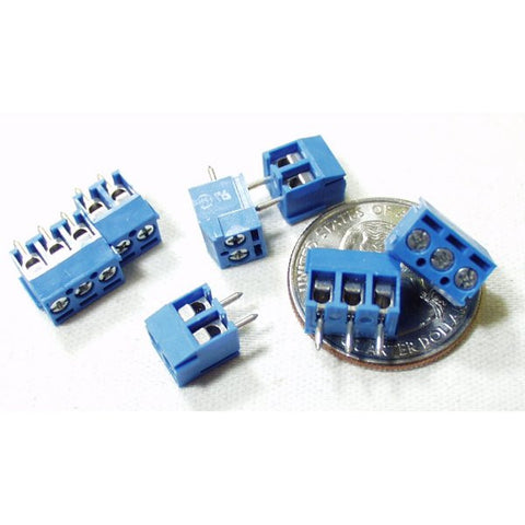Screw Terminal Block: 2 Position, 3.5mm Pitch (Pack of 5)