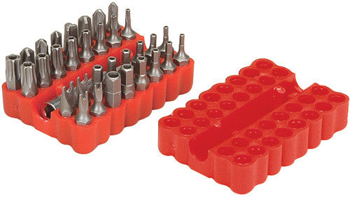 Security Screw Bit Set (33 Pieces)