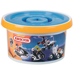 100 Piece Police Bucket Kids Erector Set