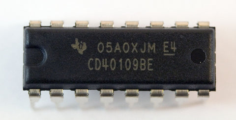 CMOS Quad Low-To-High Voltage Level Shifter