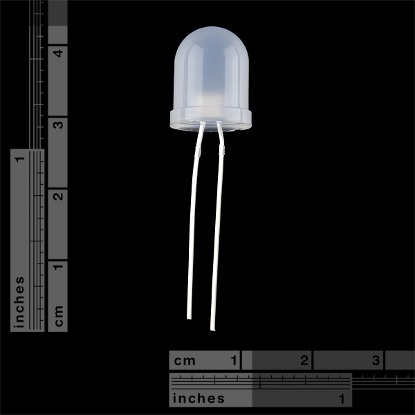 Diffused LED - White 10mm