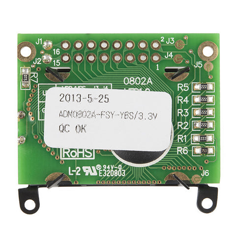 Basic 8x2 Character LCD - Black on Green 3.3V