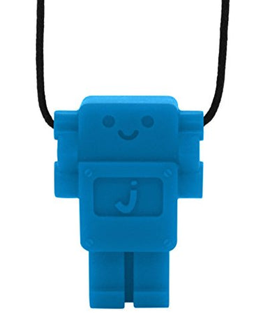 Robot Junior Pendant (Non-Toxic Silicone Jewelry) (Blueberry)