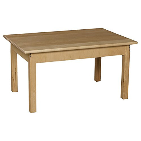 "24"" x 36"" Rectangle Hardwood Table with 22"" Legs"