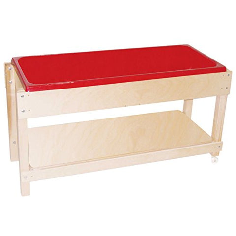"Wood Designs 11810 Sand and Water Table with Lid/Shelf, 24"" Height, 46"" Width, 17"" Length"
