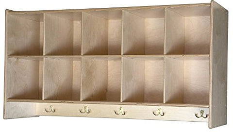 10-Cubby Wall Hanging Unit