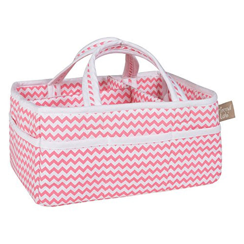 Trend Lab Chevron Storage Caddy, Coral/White