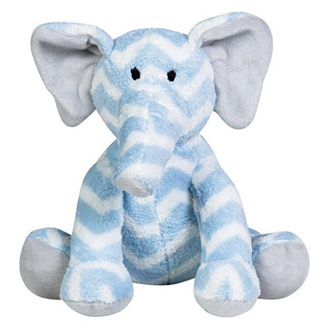 Trend Lab Elephant Plush Toy, Blue/White/Gray