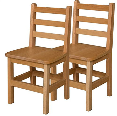 Armless Chair in Brown Finish - Set of 2