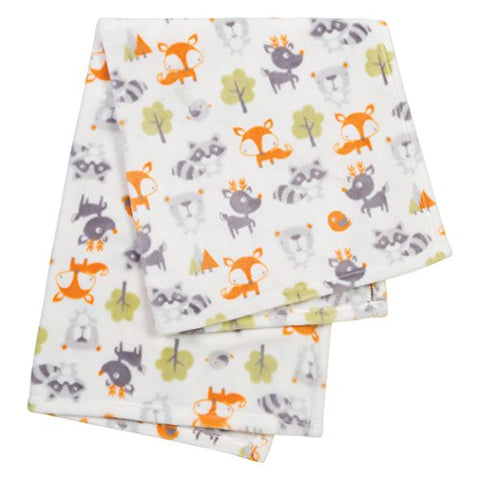 Trend Lab Plush Baby Blanket, Green Forest Pals