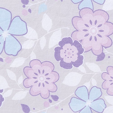 Trend Lab Grace Floral Changing Pad Cover, Purple, Blue, Gray and White