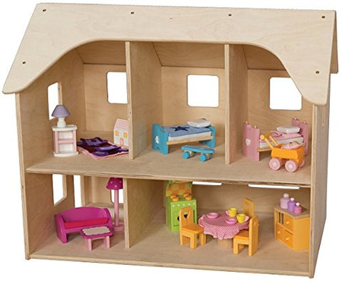 "Wood Designs 990855 Doll House, 20"" Height, 24"" Width, 15"" Length"