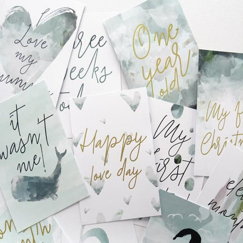 Baby Milestone Cards - Neutral