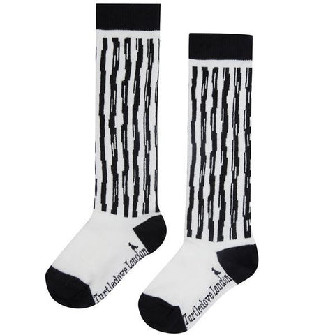 Painted Stripe Knee High Socks