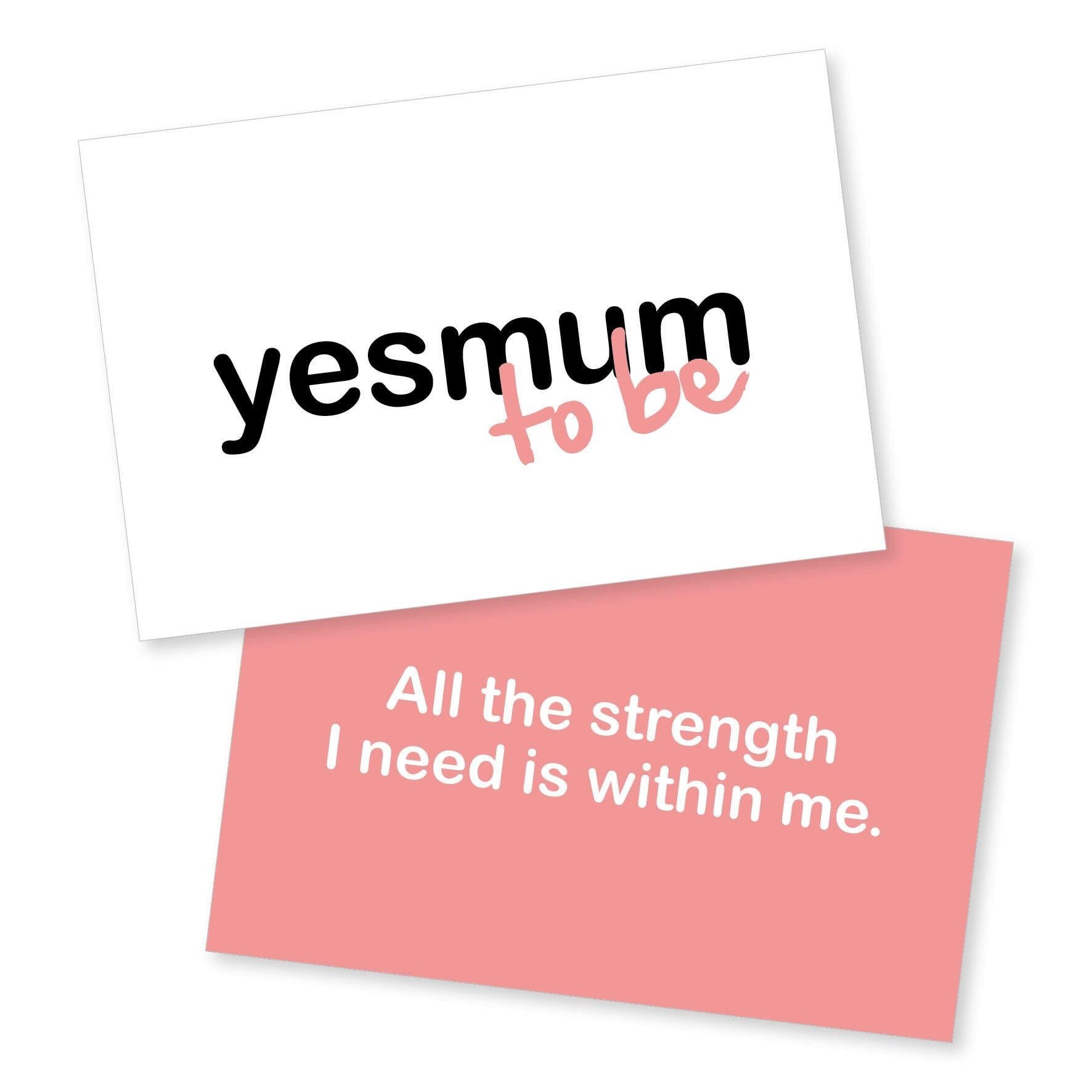 YESMUM To Be Cards Affirmation Cards YESMUM - Young Hearts