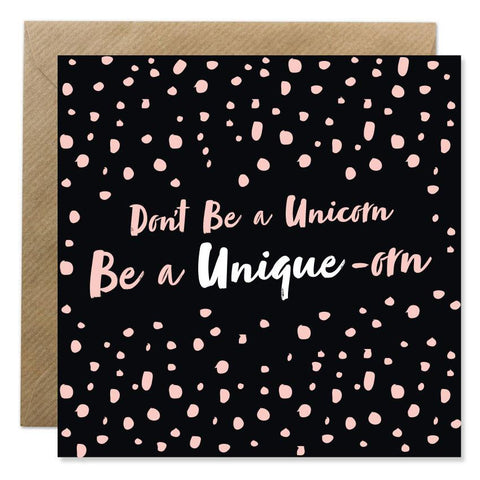 Don't be a Unicorn Be a Unique-orn Cards Bold Bunny - Young Hearts