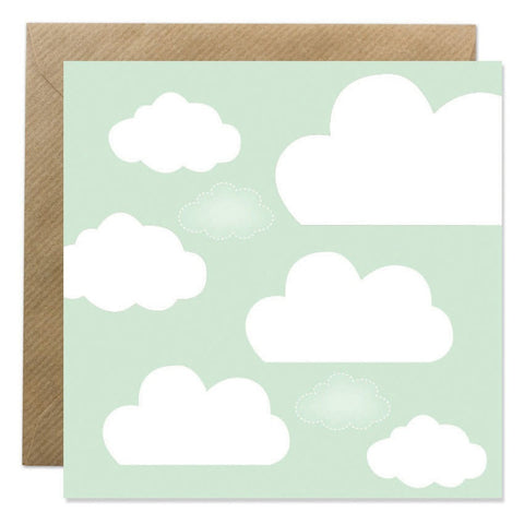 Fluffy Clouds - Mint Cards Bold Bunny - Young Hearts