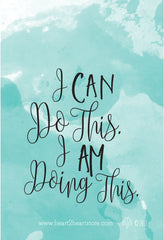 """I can do this, I AM doing this"" Watercolor Birth Affirmation Wallpaper for phone lock screen"