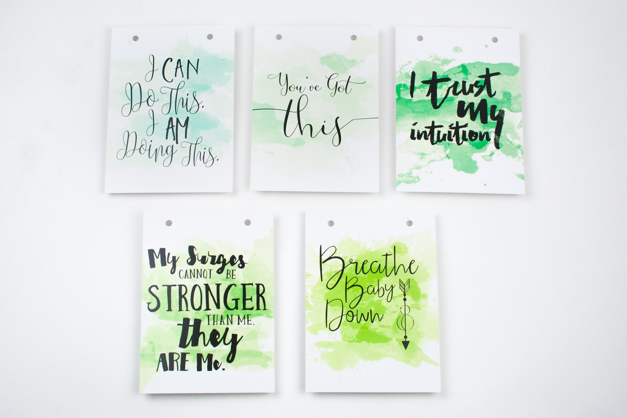 Watercolor Birth Affirmation Banner