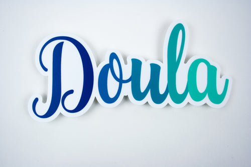 """Doula"" Calligraphy 6"" Vinyl Sticker"
