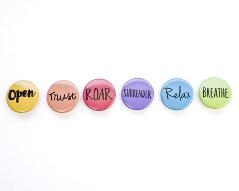 Birth Affirmaton Button Set of 6