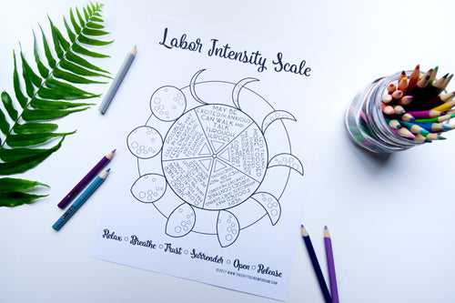 Labor Intensity Scale Coloring Page *Digital Download*