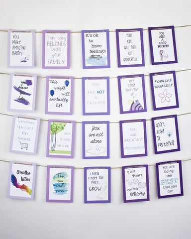 Postpartum Affirmation Banner in Mountain Purples