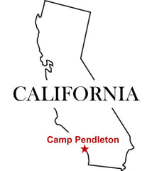 USMC Camp Pendleton Map California