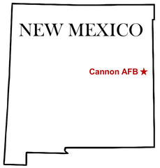 Cannon Air Force Base (AFB) Map New Mexico