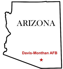 Davis-Monthan Air Force Base (AFB) Map