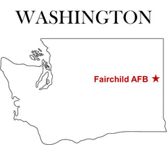 Fairchild Air Force Base (AFB) Map Washington