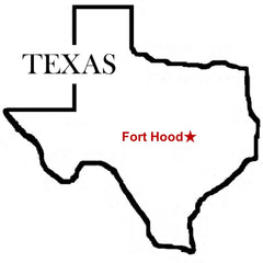 Fort Hood U.S. Army Map Texas