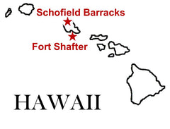 Fort Shafter Schofield Barracks Map
