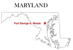 Fort George Meade Map Maryland