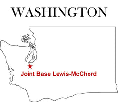 Joint Base Lewis-McChord Map Washington State