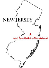 Joint Base McGuire-Dix-Lakehurst Map New Jersey