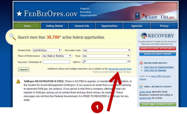 FedBizOpps Home Page DoD Department of Defense