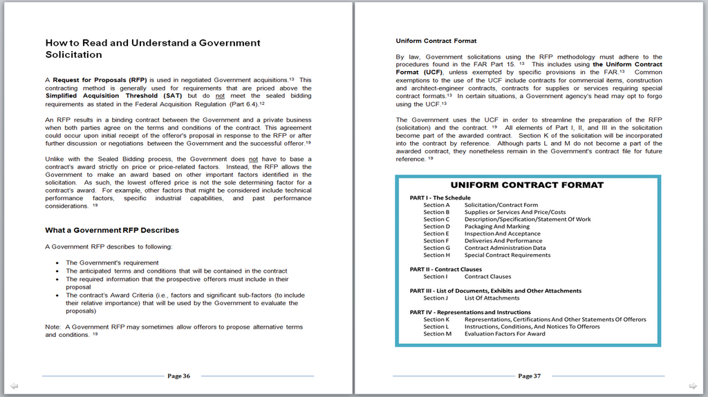 Sample Pages 36-37 - (How to Successfully Bid on Contracts at Military Bases)