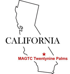 Marine Corps MAGTG Twentynine Palms California Map