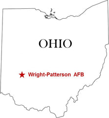 Wright-Patterson AFB Air Force Base Map Ohio