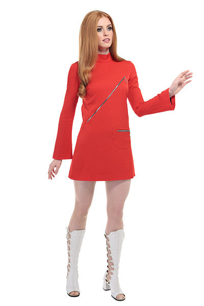DandyLife 'Urania' 60s Style Mini Dress with Ring Zips