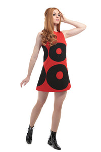 DandyLife 'Twinkle' 60s Style Mini Dress Red and Black