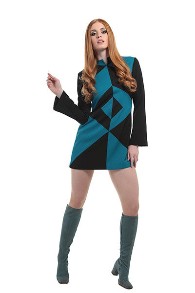 DandyLife 'Futura' 60s Style Mini Dress Space Age Inspired
